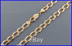 Heavyweight British Hallmarked 9ct Gold Solid Curb Chain 22.5 RRP £1210 BAL14