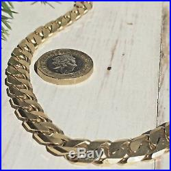 IMPRESSIVE HEAVY 9ct YELLOW GOLD SOLID Men's CURB LINK CHAIN 79g 20 ins
