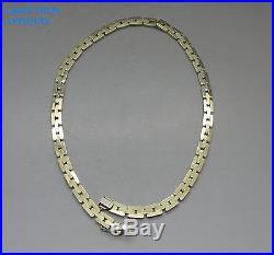 IMPRESSIVE SOLID 9CT GOLD HEAVY LINK NECKLACE, 30.8g, 39CM LONG, BIRMINGHAM 2001