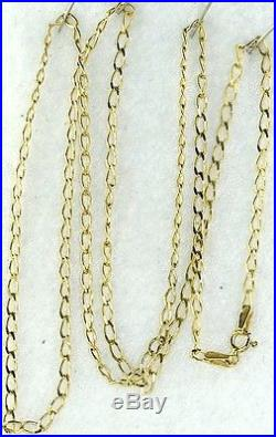 Italy Italian 375 9ct Gold 24 Inch Neck Chain For Charm Necklace