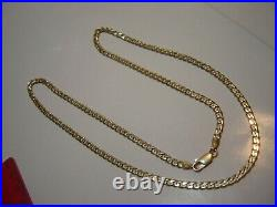 Incredible Solid 9ct Gold Curb Necklace-22-vintage-very Heavy-very Best Quality