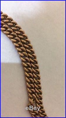 JW Benson 9ct Solid Gold Half Hunter Pocket Watch + 9ct Gold Chain