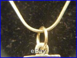 Jerusalem Cross 14k Gold With Diamond On 9ct Gold Chain