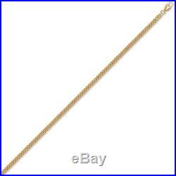 Jewelco London 9ct Gold Diamond Cut Curb 3.6mm Pendant Chain Necklace