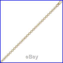 Jewelco London 9ct Gold Round Belcher 5.2mm Chain Necklace