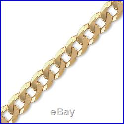 Jewelco London 9ct Gold Traditional Heavy Weight Curb Link 14mm Chain Necklace