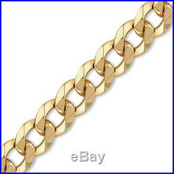 Jewelco London 9ct Gold Traditional Heavy Weight Curb Link 17.5mm Chain Necklace