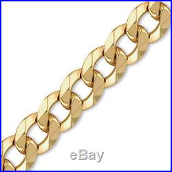 Jewelco London 9ct Gold Traditional Heavy Weight Curb Link 20mm Chain Necklace