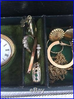 Jewellery Job Lot Including 9ct Gold, watches, Rings, Chains, 99p Start N/R