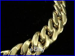 L019- HEAVY & Thick GENUINE 9ct SOLID Gold MENS CURBLINK Bracelet 22cm 45gr curb