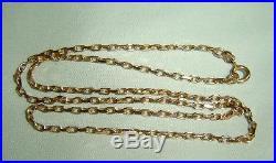 LADIES 9ct GOLD HALLMARKED NECKLACE WEIGHS 4.5g