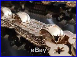 LARGE 9ct GOLD STARS & BARS CHAIN 28 Length HEAVY 235 gms