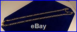 LONG Solid 9ct Yellow Gold 22.5 FIGARO Chain Necklace 14.5gr Hm 4.5mm cx886