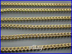 LONG VINTAGE 9ct GOLD CURB LINK NECKLACE CHAIN 30 inch C. 1980