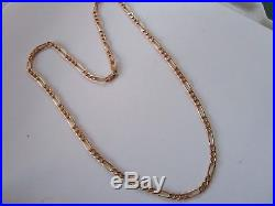 LOVELY 9ct GOLD HM BIRMINGHAM 1994 FIGARO LINK CHAIN NECKLACE 20 INCHES, 6 GRAMS