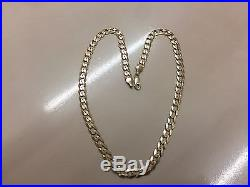 LOVELY HEAVY 9ct GOLD CURB CHAIN STAMPED