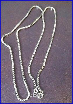 Ladies 24 Inch 9ct Gold Box Link Necklace Chain 13.9g