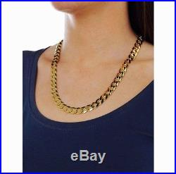 Ladies 9ct Gold Curb Solid Chain