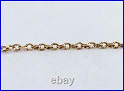 Ladies Antique Victorian 9ct Gold Barrel Clasp / Belcher Necklace Chain / 5.1 g