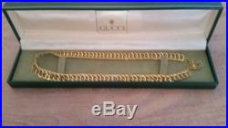 Ladies GUCCI Chain Necklace Solid 9ct Gold Stunning Gucci Link 375. NOT SCRAP