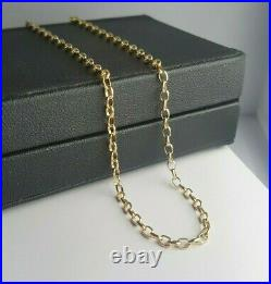 Ladies Gold Chain 9ct Yellow Gold Oval Belcher Chain 37.5cm Preloved RRP $495