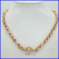 Ladies Necklace 9ct (375,9K) Rose Gold Belcher Chain Necklace