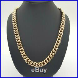 Ladies Necklace 9ct (375,9K) Rose Gold Curb Link Chain Necklace