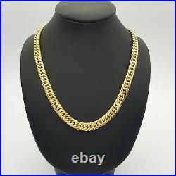 Ladies Necklace Solid 9ct (375,9K)65.04g Yellow Gold Double Curb Chain Bolt Lock