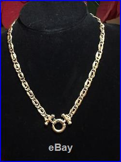 Ladies Stunning 9CT Gold Double Curb Chain 20 Inches