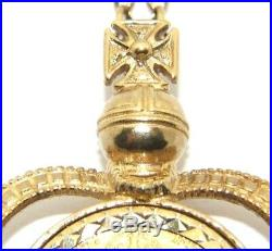 Ladies/womens 22ct gold stunning sovereign pendant with a 9ct gold belcher chain