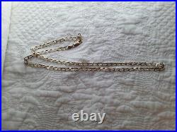 Large Chunky Gents Solid 9ct Gold 22 Inch 4mm Wide Necklace Chain Hallmarked 375