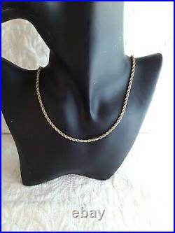 Large Chunky Solid 9ct Gold 18 Inch Long Rope Necklace Chain Hallmarked 375