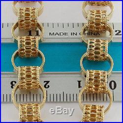 Large UK Hallmarked Solid 9ct Gold Belcher Chain 18 RRP £1060 UM4