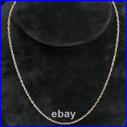 Long 9 Ct Gold Prince Of Wales Link 28 Chain Necklace 6 Grams