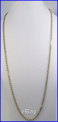 Long Antique Victorian Chunky 9ct Gold Belcher Chain Necklace 78cm 13.8g