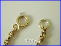 Long Guard Muff Chain Necklace Antique 9ct Gold 42 Long 18.7 Grams