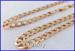 Long Hallmarked Heavy 9ct Gold Curb Link Chain 24 38.4 G RRP £1465 (BU2)