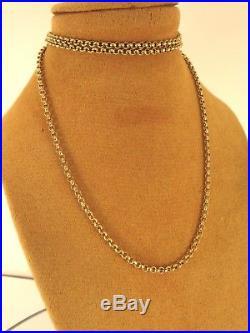 Long Solid 9ct Gold 22 BELCHER Chain Necklace Hm 7gr 2mm link RRP£350 cx709