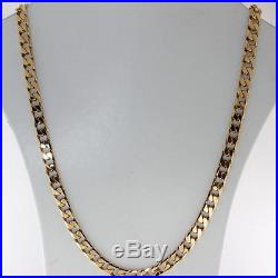 Long UK Hallmarked 9 ct Gold Tight Link Curb Chain 26 41.8 G RRP £1595 BN6