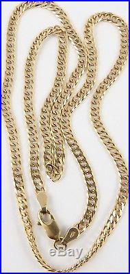 Long hallmarked 9ct gold 18 inch long yellow gold neck chain weighs 6.6 grams