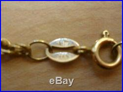 Lovely 19 Inch 9ct Gold Rope Chain Necklace Hallmarked 3mm Wide