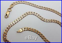Lovely 9ct Gold 19 Plain Curb Link Chain Necklace. Goldmine Jewellers