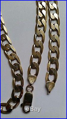 Lovely 9ct Gold 20.5 long flat curb chain, 33.5 grams. Great condition