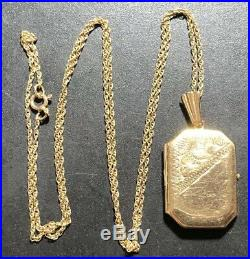 Lovely 9ct Gold Chain/ Necklace -Photo Locket, L 46cm