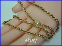 Lovely 9ct Yellow Gold Rope Chain Necklet 18 Inches