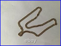 Lovely 9ct gold curb chain NOT SCRAP