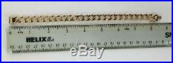 Lovely Gents 8 1/2 Heavy Vintage Solid 9ct Gold Fancy Curb Link Bracelet Chain