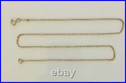 Lovely Ladies 18 Antique Victorian 9ct Gold Fancy Cable Link Necklace Chain