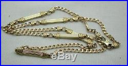 Lovely Quality Heavy 9ct Gold Fancy Link Necklace