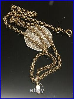Lovely Vintage 9ct 375 Yellow Gold Belcher Chain Necklace 19 Long Hallmark